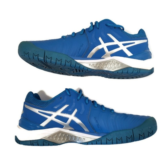 Asics Gel Resolution 7 blue silver Men's sneaker